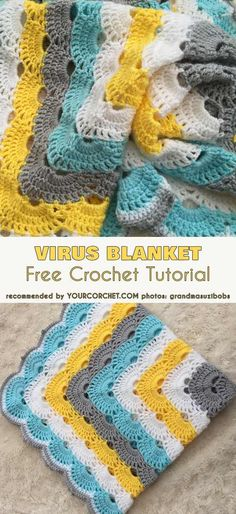 Virus Blanket Afghan Free Crochet Tutorial, Crochet Pattern One of the most amazing patterns ever. Follow us to see more patters for baby cloths, women fashion, shawl and amigurumi. Happy crocheting! #freecrochetpatterns #crochetblanket