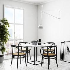 Scandinavian white corner #diningroom #interior #design #interiordesign 5f0d8f66428337.5b160192a5436.jpg (1240×1240)