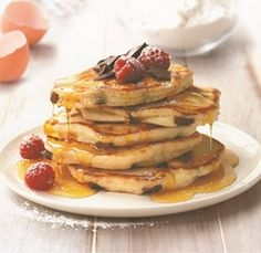 Dark Chocolate & Vanilla Pancakes - the perfect packet mix to create a decadent breakfast option