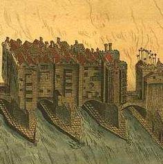 London Bridge with impaled heads of traitors, reign of Elizabeth I