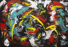 Original Abstract Painting by Alexis Reynaud Abstract Expressionism, Abstract Art, Original Art, Original Paintings, Sword Fight, Battle Fight, Musashi, Katana, Buy Art