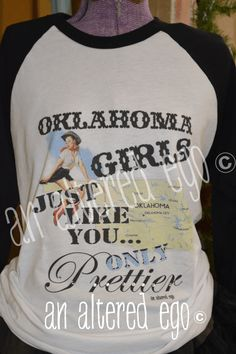 Oklahoma Girls Raglan-oklahoma  raglan  girls