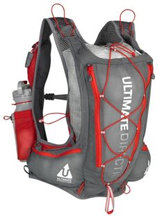 Ultimate Direction - Peter Bakwin designed, 2013 National Geographic Adventure Gear Award winning, 12 ounce PB Adventure Vest -features 8.5 liter main compartment and one-piece pull cord for instant expandability or compression, locater beacon pocket, and trekking poles or ice axe attachment system.