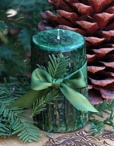 Sequoia Redwood . 2x3 Pillar Candle . King by WhiteMagickAlchemy