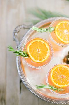 Orange Rosemary Spritz.  Photography by White Loft Studio.  More inspiration at:  http://www.valenciamindfulnessretreat.org