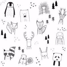 The wild kids apparel doodle art, doodle kids, bullet journal doodles ideas, bullet Doodle Art, Doodle Drawings, Easy Drawings, Doodle Kids, Funny Drawings, Simple Animal Drawings, Pencil Art Drawings, Tier Doodles, Cool Doodles