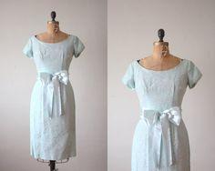 1950s dress  mint lace wiggle dress by Thrush on Etsy, $114.00