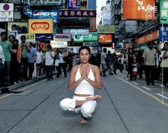 Yoga teacher and model Almen in Hong Kong