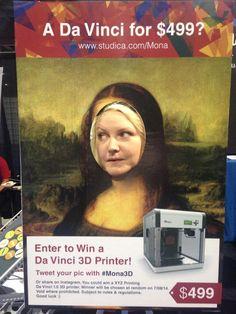 I want to win the Da Vinci 3D printer! #mona3d #ISTE2014