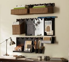 hanging peg storage from Pottery Barn