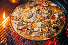 This recipe, which was adapted from one Valerie Gurdal cooked in the 2013 running of the Westport Paella Contest in Westport, Massachusetts, and brought to The Times by John Willoughby, is classical in its use of rabbit, chorizo, Spanish ham and Calasparra rice But its depths of flavors are increased exponentially by grilling the meats before adding them to the paella pan Cooked over an open fire, the dish may be scary to contemplate, but it is not at all difficult to pull off.