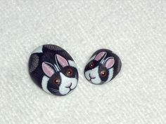 rock concert painted on rocks | ... , miniature spring garden rabbits, hand painted... | Shop | Kaboodle