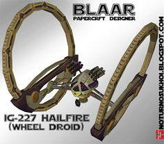 Papercraft - Star Wars IG227 Hailfire Droid Tank | Papercraft4u | Free Papercrafts, Paper Toys, Paper Models, Gratis