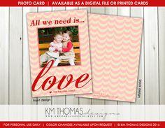 Love Custom Photo Valentine's Day Card : by KMThomasDesigns