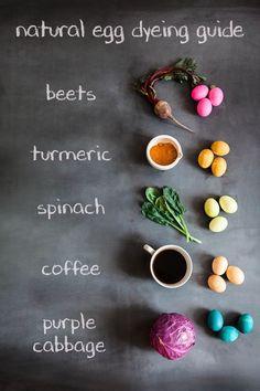 fun ways to dye easter eggs naturally