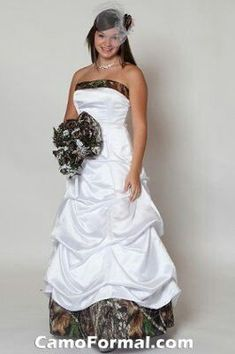 Discount Camo Wedding Dresses | Camo wedding dress better if it was pink camo | For My Girls......do you like this Ty?