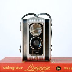 Kodak Duaflex Vintage Camera Antique Box Camera 620 Film Mid Century Modern Camera with Strap