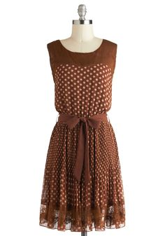Sienna You Soon Dress. Farewell salutations are so much easier said when you know that youll be reunited with your companions soon. #brown #modcloth (Fall dress?)