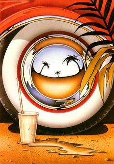 """1980s Athena Collection  """"Wheel Reflections""""  Los Angeles soCal"""
