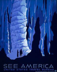 See America posters (Blue Cavern) – Vintagraph