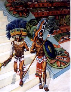 The Aztec Empire: Presumibly a couple of warriors from the nobility