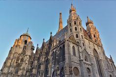 Stephansdom Cathedral in Vienna, Austria Visit Austria, Austria Travel, Vienna Austria, Cool Places To Visit, Places To Go, Gothic Cathedral, Baroque Architecture, Mountain Village