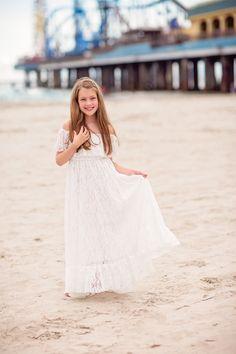 ea6dee4ed28 Delphine Dress in White Lace. Girls Maxi DressesGirls ...