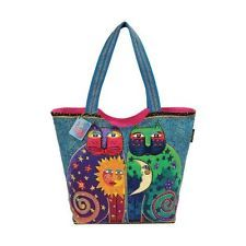 Laurel Burch Scoop Tote Zipper Top, 19-1/2-Inch by 5-Inch by 15-Inch, Celestial