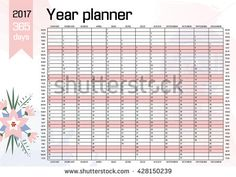 year wall planner template vector eps indesign indd ai illustrator
