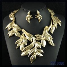 alibaba popular Unique punk vintage style african custume beads leaf charming jewelry set bridal, View african beads jewelry set bridal, YANI Product Details from Yiwu Yani Jewelry Factory on Alibaba.com