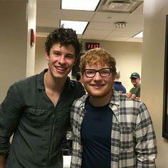 Shawn Mendes and Ed Sheeran last night in Brooklyn NY 08.16.17