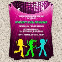 Dance Party Invitation - Hip Hop Dance Party Invitation - Disco Party Invitation - Kids Dance Party Invitation - Printable Invitation on Etsy, $7.00