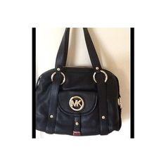 Michael Kors Fulton Leather Satchel Black | eBay found on Polyvore