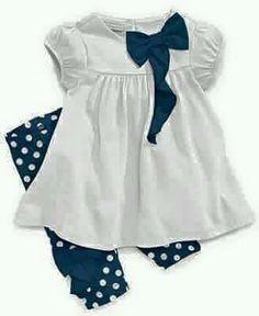 Lindo traje blanco y azul