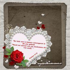 Galaten 5:14 De hele wet is immers samengevat in dit ene gebod: Houd net zoveel van uw medemens als van uzelf. Galaten 5:14  #Gehoorzaamheid, #Liefde, #Naaste  https://www.dagelijksebroodkruimels.nl/galaten-5-14/
