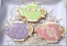 Unique Hand Decorated Teapot Cookie Party Favors http://www.alittlefavor.com/products/93/crcteapots/unique-hand-decorated-teapot-cookie-party-favors.html