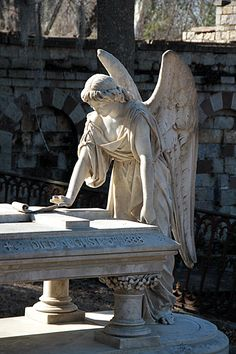 Angel at a Tomb in Savannah, Georgia