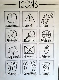 Icons #visualvocabulary #icons - #icon #Icons #visualvocabulary Visual Thinking, Design Thinking, Visual Note Taking, Sketch Free, Education Icon, Doodle Icon, Sketch Notes, Business Icon, Lettering