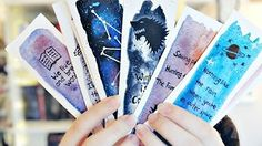 DIY: Bookmarks & Watercolor Techniques for Beginners | Watercolor DIY | How To Make Bookmarks - YouTube