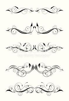 vector elements for art decoration or tattoo Swirl Tattoo, Filigree Tattoo, Dragonfly Tattoo, Sternum Tattoo, Mandala Tattoo, Abdomen Tattoo, Lower Stomach Tattoos For Women, Lower Back Tattoos, Flower Tattoos