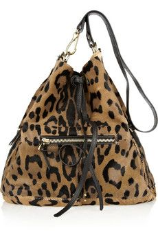 Jérôme Dreyfuss Alain animal-print calf hair bucket bag