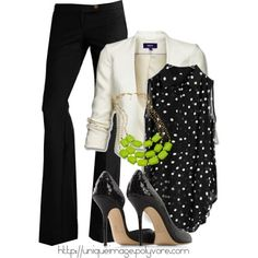 I love this outfit! I would wear it in a second... Its so pretty and professional