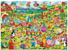 Solve Fairy tales characters (easy) jigsaw puzzle online with 130 pieces Classic Fairy Tales, Wolf, Kids Store, Mythical Creatures, Jigsaw Puzzles, Sculptures, Pure Products, Creative, Painting