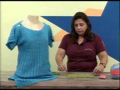 Cristina Amaduro - Saída de praia em crochê - YouTube