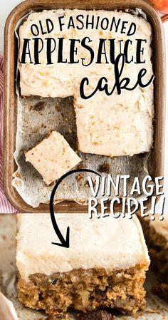 13 Desserts, Delicious Desserts, Dessert Recipes, Yummy Food, Cake Mix Desserts, Recipes Dinner, Apple Cake Recipes, Baking Recipes, Vegan Recipes
