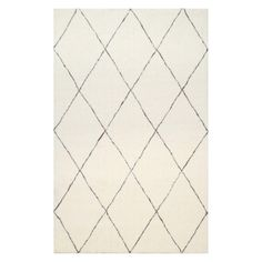 nuLOOM Moroccan Shag Area Rug - Let the nuLOOM Moroccan Shag Area Rug lay out its simple style in your home. The simple geometric design is just the way to tie any room together without...