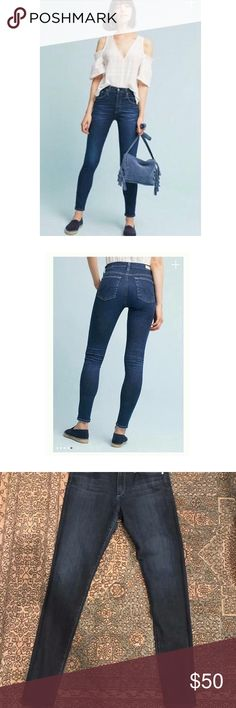 AG denim-The Farrah Skinny, High-Rise Skinny Excellent used condition. Anthropologie AG contour 360 premium denim-The Farrah Skinny, High-Rise Skinny. Size 28. I love these denim and I wish they still fit me, very comfortable and flattering. Anthropologie Jeans Skinny