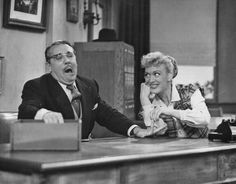 EVE ARDEN AND CO STAR  GALE  GORDON   OUR MISS BROOKS TV SHOW.