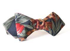 One of a Kind Hawaiian Print Bow Tie Handmade by Lord Wallington