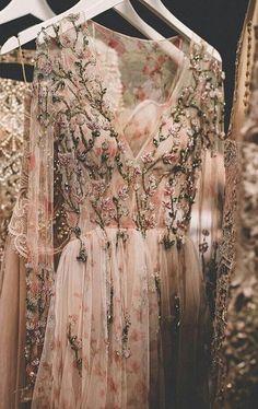 Alternative Prom Sequinned Embellished Floral Mystical Mesh Dress